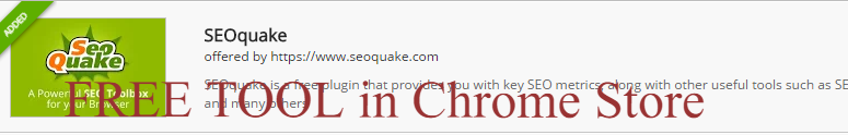 Chrome Web Store SEOQUAKE