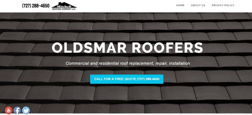 Oldsmar Roofing Web Design