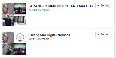 facebook Groups in Chiang Mai, Thailand